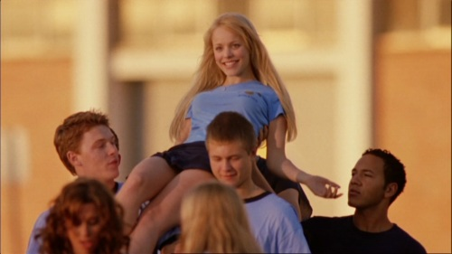 "Regina George from Mean Girls is being ""celebrated"" as the Queen Bee of the school, like a real royal family or God would be worshipped by the common people. She is elevated above everyone else and is the stereotypical blonde, pretty ""ideal"" that all girls want to follow."